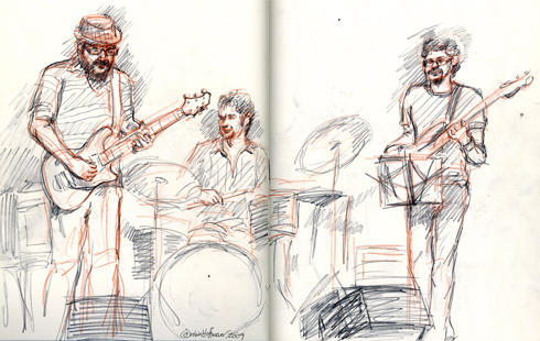 Joao Erbetta, <b>Zyvox prescriptions</b>, <b>Zyvox craiglist</b>, Andrew Borger, and Tim Lutzel, <b>Zyvox in us</b>.  Drawing by and copyright Robin Hoffman, all rights reserved.