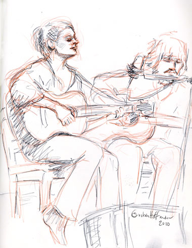 Ann Claire Baber with Frank Hoier, 02.17.10, <b>where to buy Acomplia Rimonabant</b>.  <b>Where can i buy Acomplia Rimonabant online</b>, Drawing by and &copy; Robin Hoffman, 2010