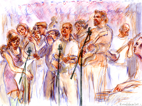 M Shanghai String Band, 11.05.10, <b>Amoxicillin to buy</b>.  <b>Buy Amoxicillin without prescription</b>, Drawing by and © Robin Hoffman, 2010