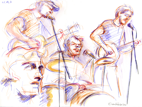 The Toughcats, 02.19.11. Drawing by and © Robin Hoffman, 2011