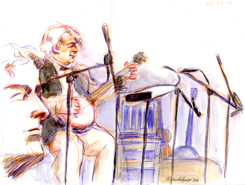 Pat Conte, 02.25.11. Drawing by and © Robin Hoffman, 2011
