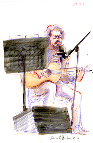 Luis Bettancourt, 04.05.11. Drawing by and © Robin Hoffman, 2011