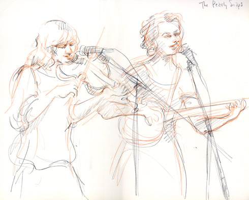 The Pearly Snaps, 06.12.11. Drawing by and © Robin Hoffman, 2011