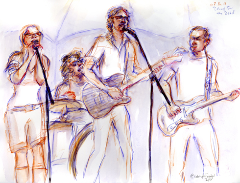 School for the Dead, 07.16.11. Drawing by and © Robin Hoffman, 2011
