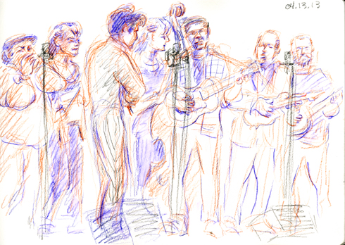 M Shanghai, 04.13.13. Drawing by and © Robin Hoffman, 2013